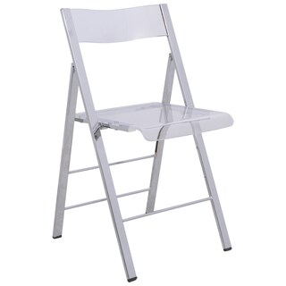 LeisureMod Menno Transparent Folding Chair