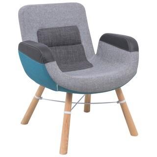 LeisureMod Milwood Color Block Accent Chair