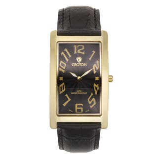 Croton Men's CN307533YLBK Stainless Steel Goldtone Rectangular Watch|https://ak1.ostkcdn.com/images/products/10755931/P17809531.jpg?impolicy=medium