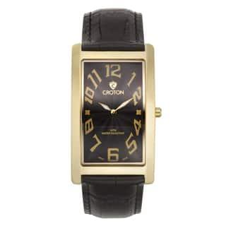 Croton Men's CN307533YLBK Stainless Steel Goldtone Rectangular Watch|https://ak1.ostkcdn.com/images/products/10755931/P17809531.jpg?impolicy=medium