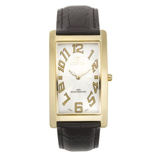 Croton Men's CN307533YLWH Stainless Steel Goldtone Rectangular Watch