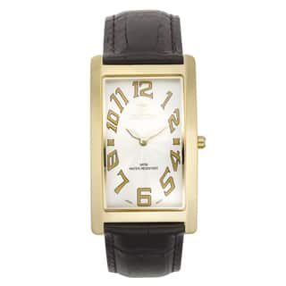 Croton Men's CN307533YLWH Stainless Steel Goldtone Rectangular Watch|https://ak1.ostkcdn.com/images/products/10755932/P17809532.jpg?impolicy=medium