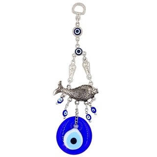 Evil Eye and Fish Hanging Ornament