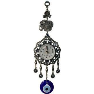 Crystal Florida Evil Eye Elephant Clock
