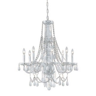 Crystorama Envogue Collection 8-light Wet White Chandelier