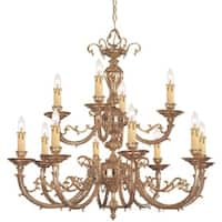 Crystorama Etta Collection 12-light Olde Brass Chandelier