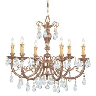 Crystorama Etta Collection 6-light Olde Brass Chandelier