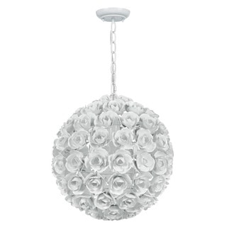 Crystorama Cypress Collection 1-light Wet White Mini Chandelier