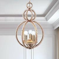 3-light Distressed Twilight Mini Chandelier - Gold