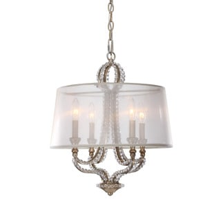 Crystorama Garland Collection 4-light Distressed Twilight Mini Chandelier