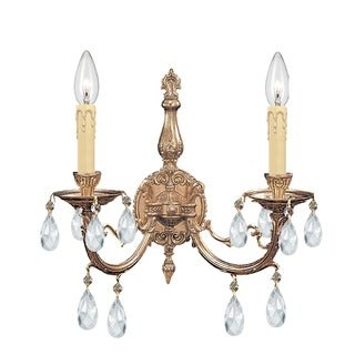 Crystorama Etta Collection 2-light Olde Brass Wall Sconce