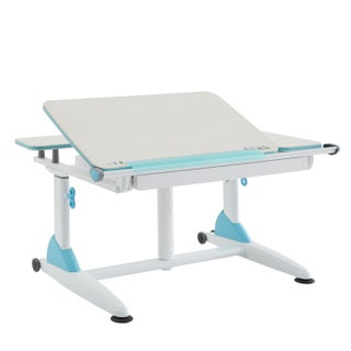 Kid 2 Youth Sit to Stand Kids Ergonomic Desk with Drawer (Option: Blue)