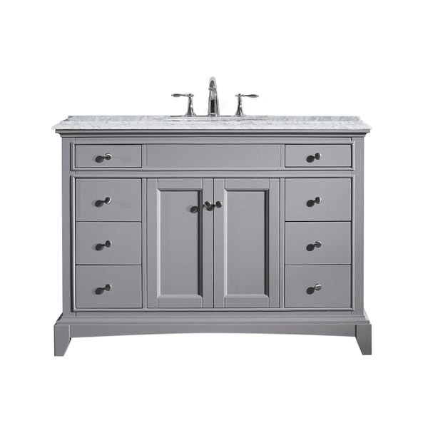 Shop eviva elite stamford 48 inch grey bathroom vanity set - 48 inch white bathroom vanity with top ...