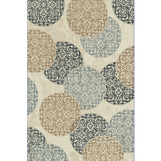 Cappella Floral Medallion Area Rug (2' x 3'7)