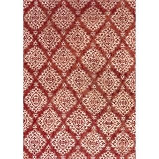 Cappella Floral Diamonds Terracotta Area Rug (2 x 3'7)