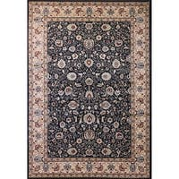 Cappella Traditional Floral Anthracite Area Rug (2 x 3'7) - 2' x 3'7