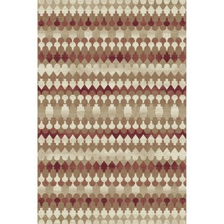 Cappella Ikat Red Area Rug (2'2 x 7'10)