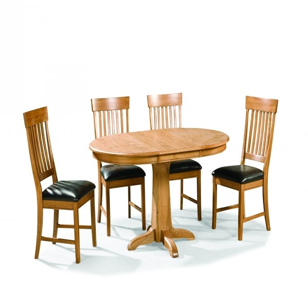 Family Dining Chestnut Oval Pedestal Dinette Table Free Shipping