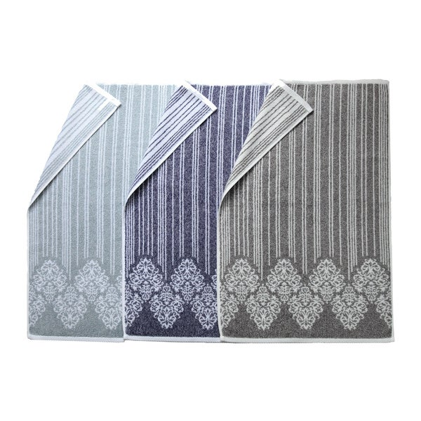 Authentic Hotel and Spa Margot Turkish Cotton Jacquard Hand Towel (Set of 4)