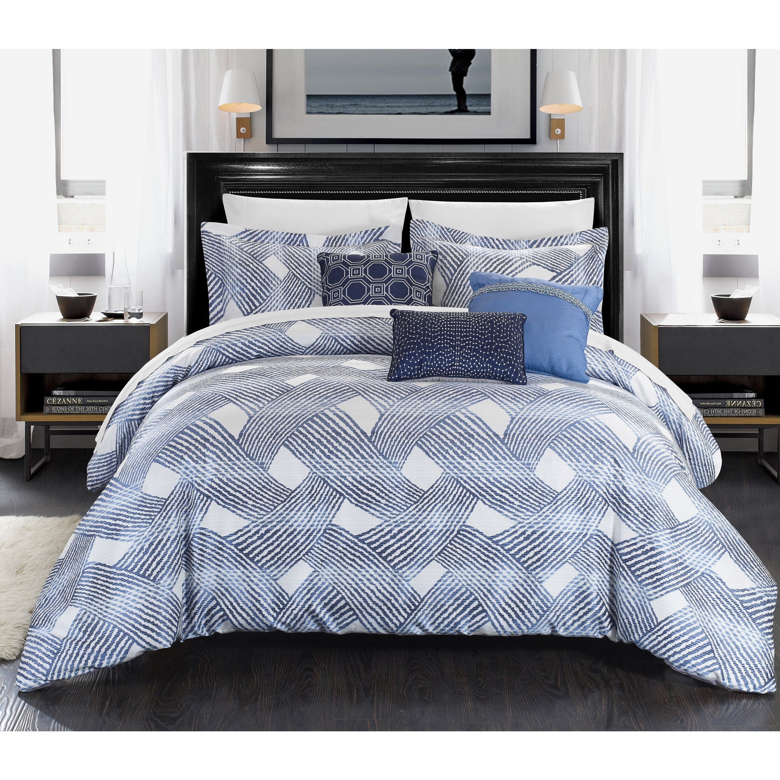 Be-You-tiful Home Antoinette Quilt Set Blue Twin
