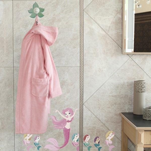 Sweet Kids Pretty Pink Turkish Cotton Hooded Terry Bathrobe