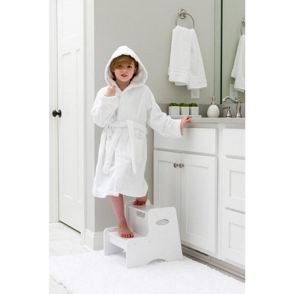5fb0013ff8 Shop Sweet Kids White Turkish Cotton Hooded Unisex Terry Bathrobe ...