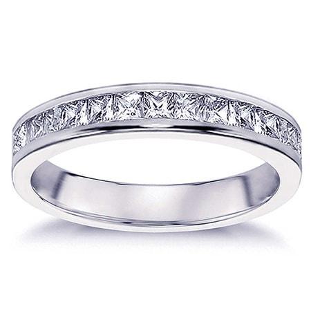 14k Gold 3 4ct TDW Princess Cut Diamond Channel Setting Wedding Band