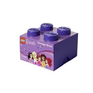 LEGO Friends Lilac Medium Storage Brick 4