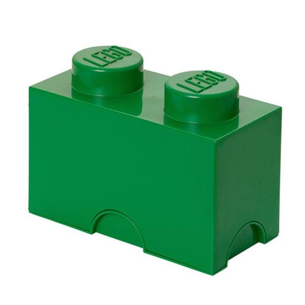 LEGO Dark Green Storage Brick 2