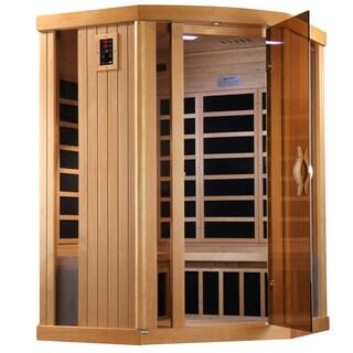 Golden Designs 3-person Corner Limited Edition Puretech Ultra Low EMF Infrared Sauna GDI-6365-01