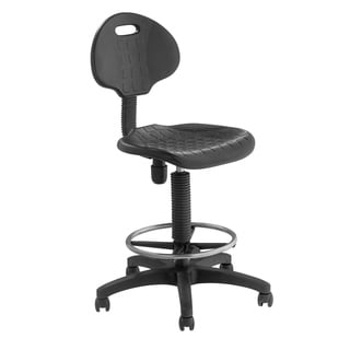 Polyurethane Adjustable Task Stool with Backrest