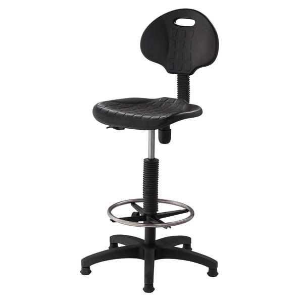 Shop Polyurethane Adjustable Task Stool With Backrest