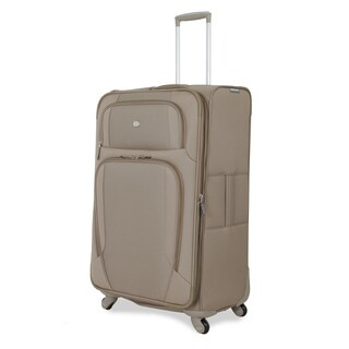 SwissGear Beige 28-inch Expandable Spinner Upright Suitcase