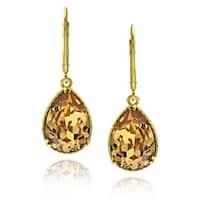 Goldplated Sterling Silver Crystal Earrings