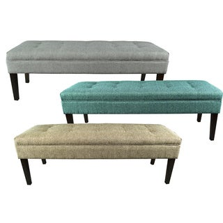 Kaya Button Tufted Upholstered Long Bench