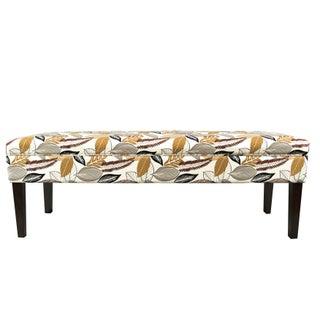 Kaya FloraFoliage-button Tufted Upholstered Long Bench