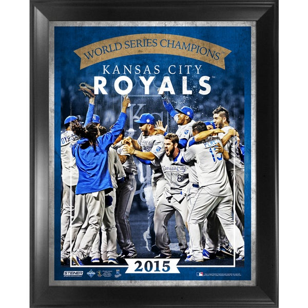 Kansas City Royals 2015 World Series Champions 16x20 Team Composition Graphic Framed Collage
