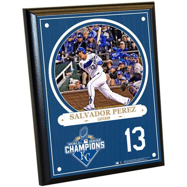 Kansas City Royals 2015 World Series Champions Salvador Perez 8x10 Plaque