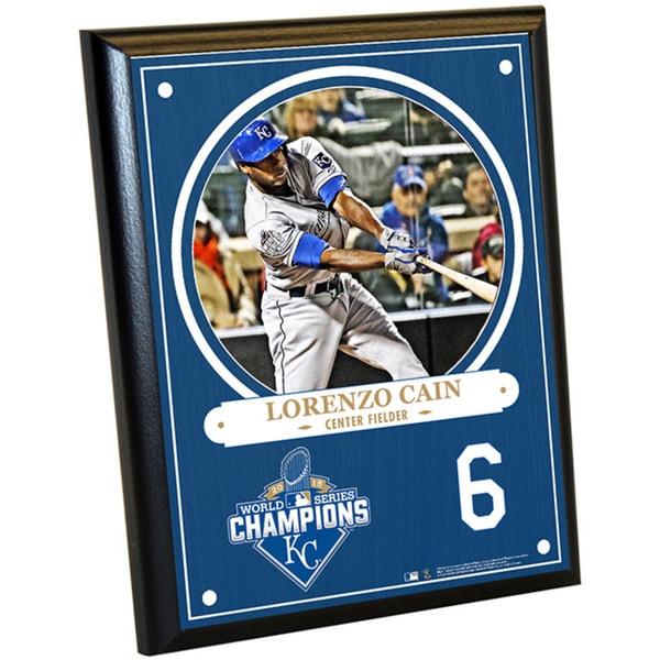 Kansas City Royals 2015 World Series Champions Lorenzo Cain 8x10 Plaque