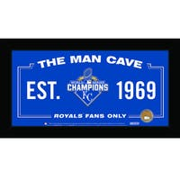 Kansas City Royals 2015 World Series Champions 10x20 Man Cave Sign