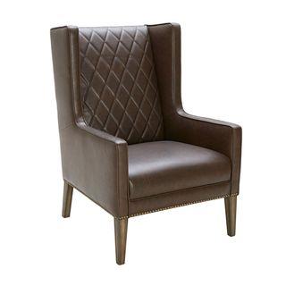 Sunpan '5West' Roma Leather Arm Chair