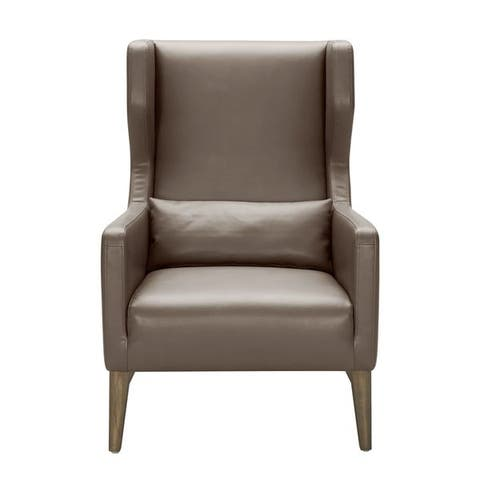 Sunpan '5West' Messina Leather Arm Chair