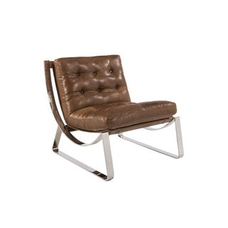 Sunpan 'Club' Tryst Leather Profundo Chair