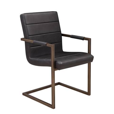 Iron Gate Sunpan Jafar Faux Leather/ Steel Arm Chair (Set of 2)