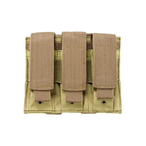 NcStar Triple Pistol Mag Pouch Tan