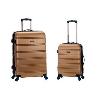 Rockland Gold Lightweight 2-piece Expandable Hardside Spinner Upright Luggage Set Gold