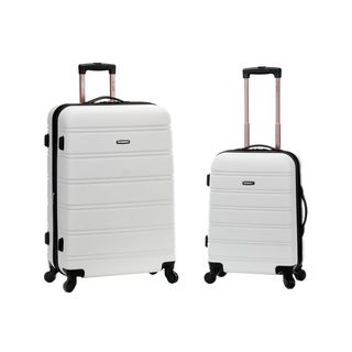 Rockland White Lightweight 2-piece Expandable Hardside Spinner Upright Luggage Set