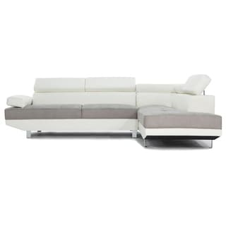 Link to Modern Contemporary 2 Tone Microfiber Bonded Leather Sectional Sofa Similar Items in Bedroom Furniture