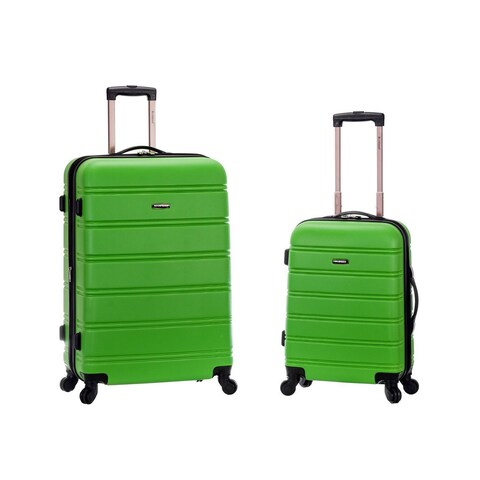 Rockland Green Lightweight 2-piece Expandable Hardside Spinner Upright Luggage Set