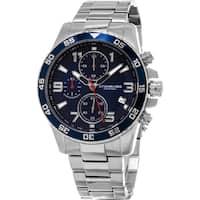 Stuhrling Original Men's Concorso Chrono Quartz Stainless Steel Bracelet Watch